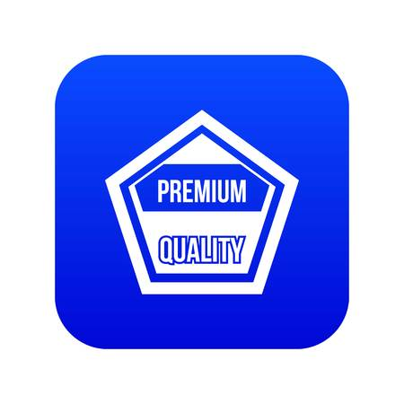 Premium quality label icon digital blue for any design isolated on white vector illustration