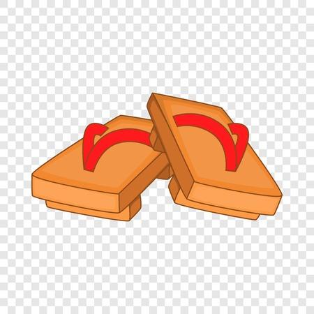 Pair of wooden clogs icon. Cartoon illustration of pair of wooden clogs vector icon for web