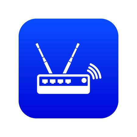 Router icon blue vector
