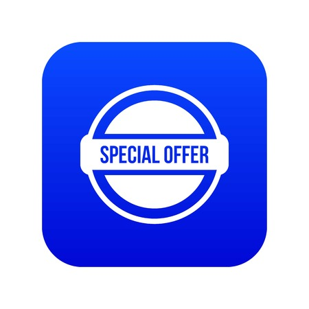 Special offer circle icon digital blue for any design isolated on white vector illustration Stock Illustratie