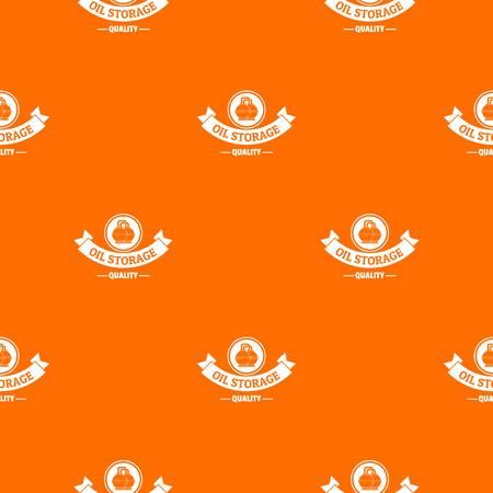 Oil storage pattern vector orange Illustration