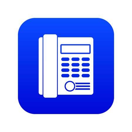 Office business keypad phone icon digital blue