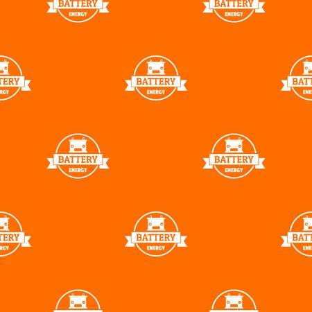 Car battery pattern vector orange Иллюстрация