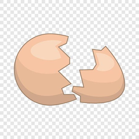 Eggshell icon, cartoon style Ilustrace