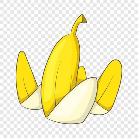 Banana peel icon, cartoon style Çizim