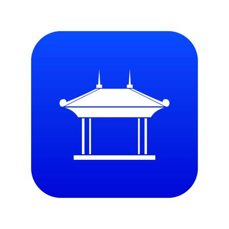 Pagoda icon digital blue for any design isolated on white vector illustration Illustration