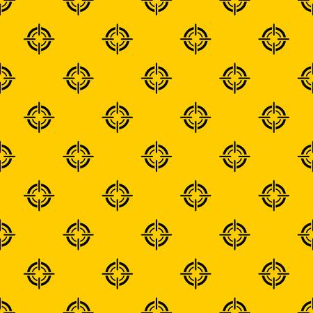 Target pattern seamless vector repeat geometric yellow for any design
