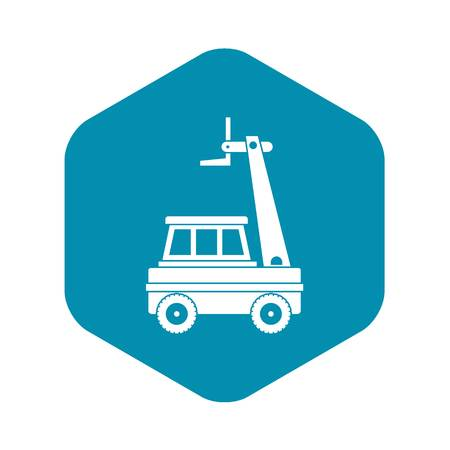 Cherry picker icon in simple style isolated vector illustration
