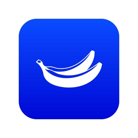 Banana icon digital blue for any design isolated on white vector illustration