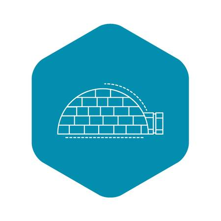 Igloo house icon. Outline igloo house vector icon for web design isolated on white background