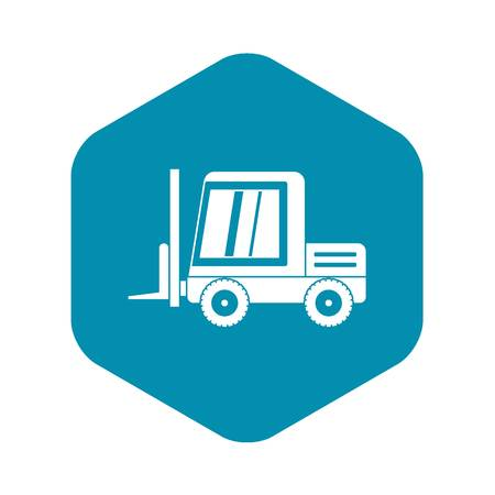 Stacker loader icon in simple style isolated vector illustration Reklamní fotografie - 130241615