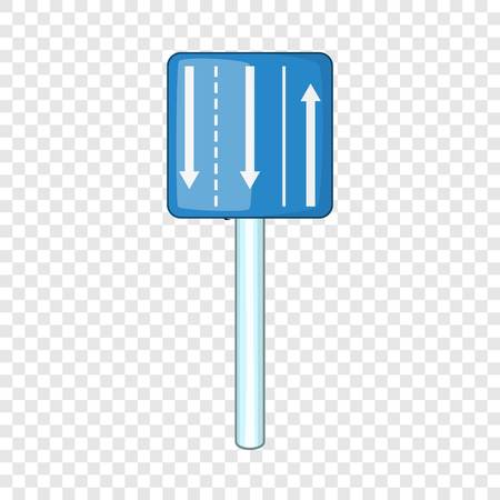 Appropriate traffic lanes icon, cartoon style