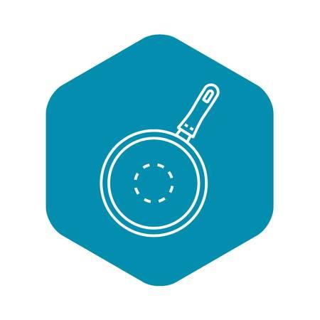 Kitchen griddle icon, outline style Ilustração