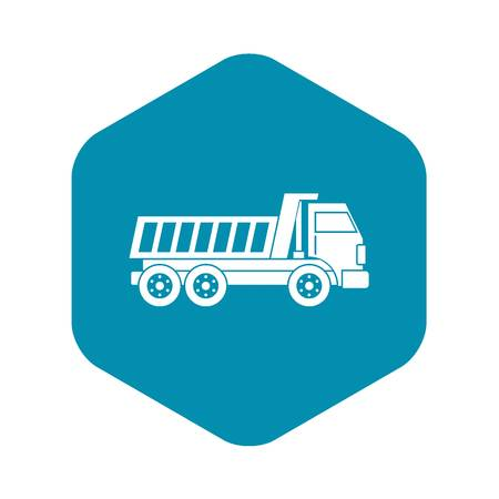 Dumper truck icon in simple style isolated vector illustration
