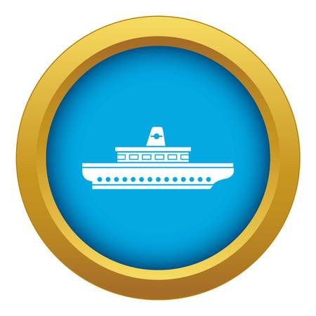 Passenger ship icon blue vector isolated on white background for any design