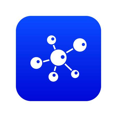 Molecule research icon blue vector isolated on white background Ilustracja
