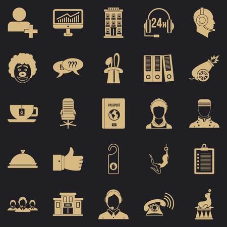 Accordance icons set, simple style Ilustrace