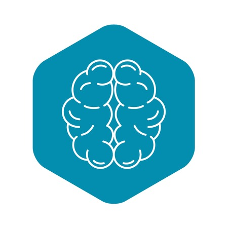 Mind brain icon, outline style