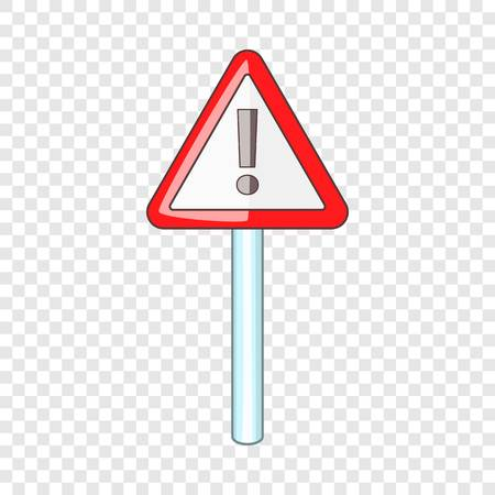 Warning sign icon, cartoon style Banque d'images - 125064705