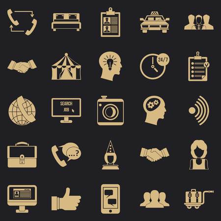 Business coherence icons set, simple style Ilustrace