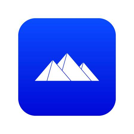 Pyramids icon digital blue