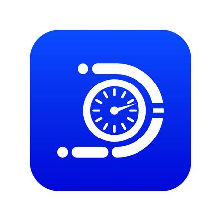 Timer icon blue vector isolated on white background Banque d'images - 130241725