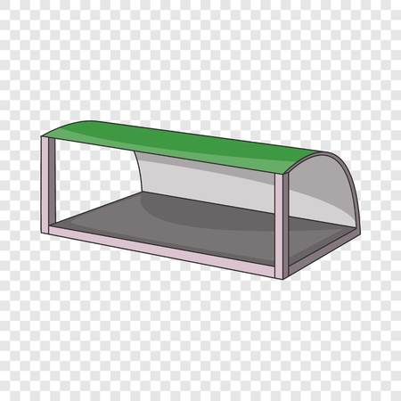 Pavilion for the train station or bus stop icon