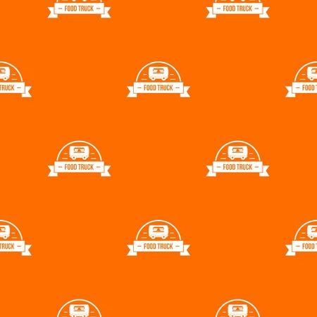 Food Truck Muster Vektor orange
