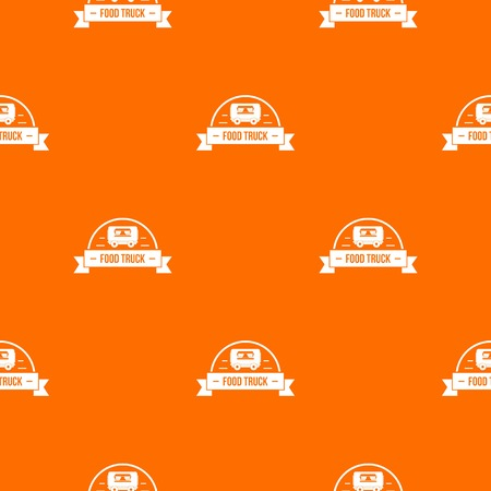 Food truck pattern vector orange