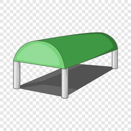 Warehouse roof icon, cartoon style