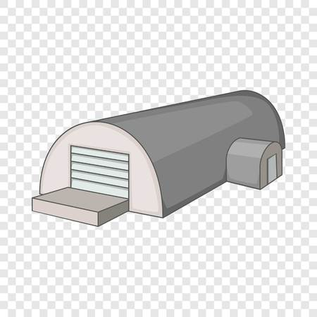 Metal semicircular hangar icon. Cartoon illustration of hangar vector icon for web
