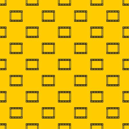 Film with frames movie pattern seamless vector repeat geometric yellow for any design