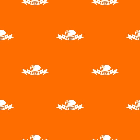 Eco seed pattern vector orange