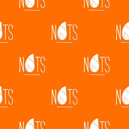 Eating nut pattern vector orange  イラスト・ベクター素材