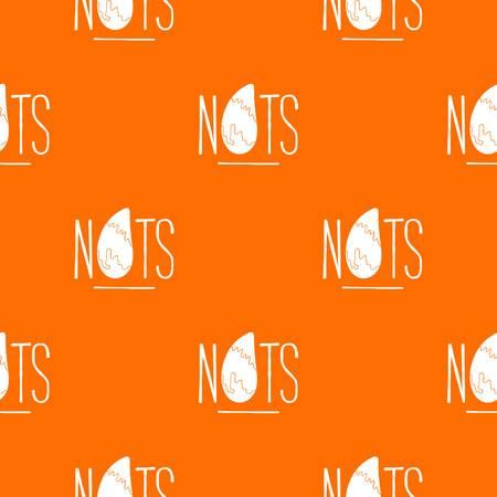 Eating nut pattern vector orange Ilustração