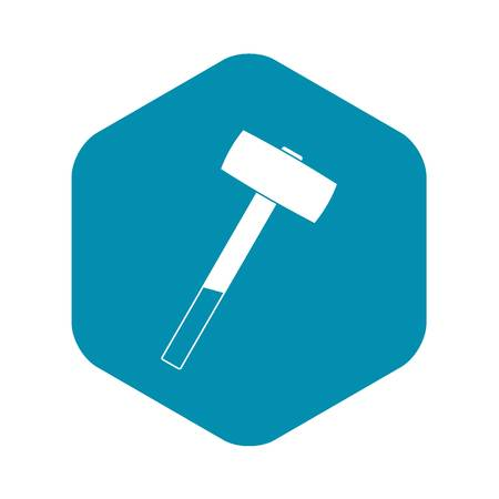 Sledgehammer icon in simple style isolated vector illustration