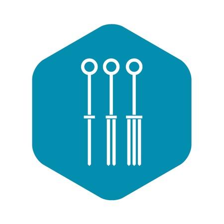 Tattoo needles icon simple