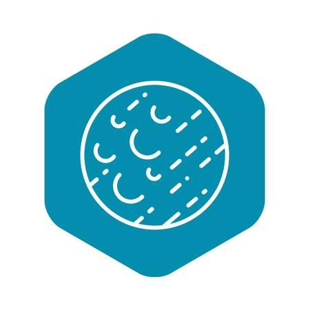 Uranus planet icon, outline style