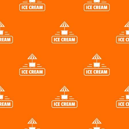 Ice cream stand pattern vector orange
