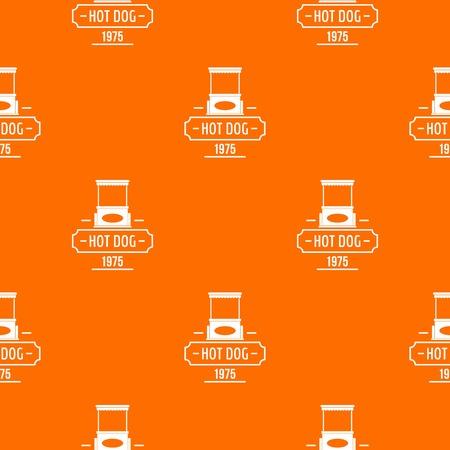 Hot dog pattern vector orange