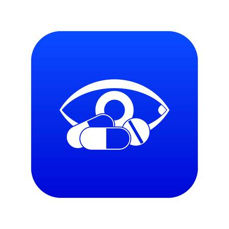 Treatment of the eye icon digital blue