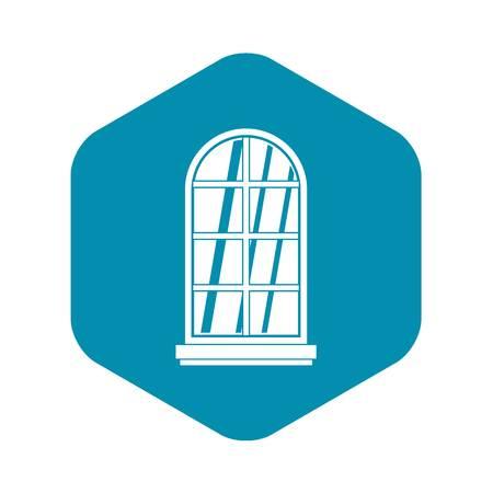White window frame icon simple
