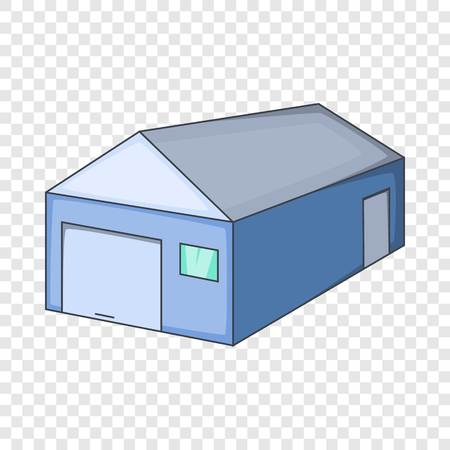 Blue warehouse building icon. Cartoon illustration of blue warehouse building vector icon for web Ilustração