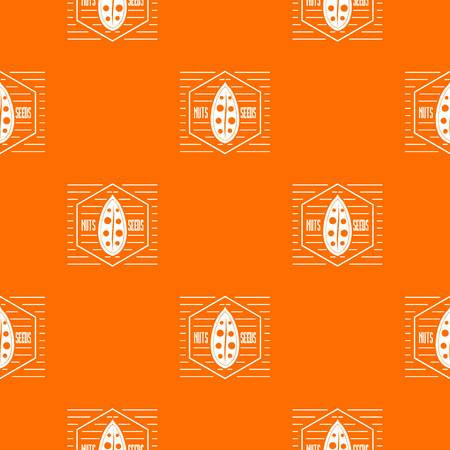 Nut and seed pattern vector orange