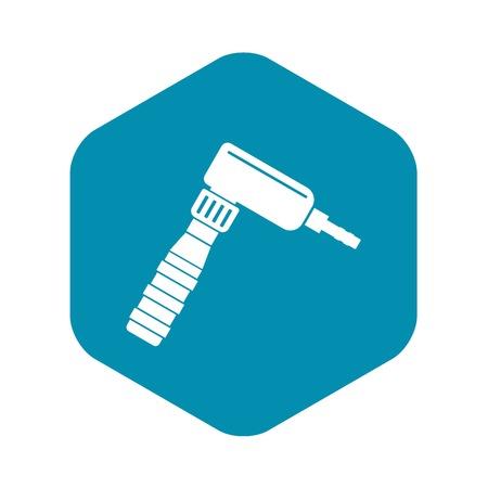 Hand draw rotary tattoo machine icon simple 向量圖像
