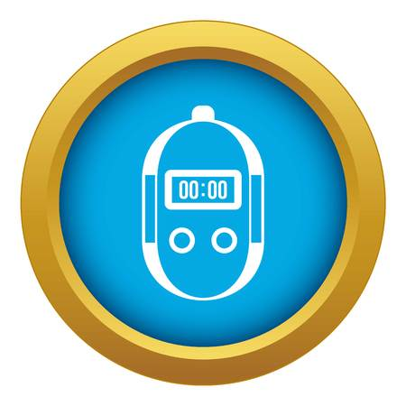 Stopwatch icon blue vector isolated on white background for any design Banque d'images - 130241800