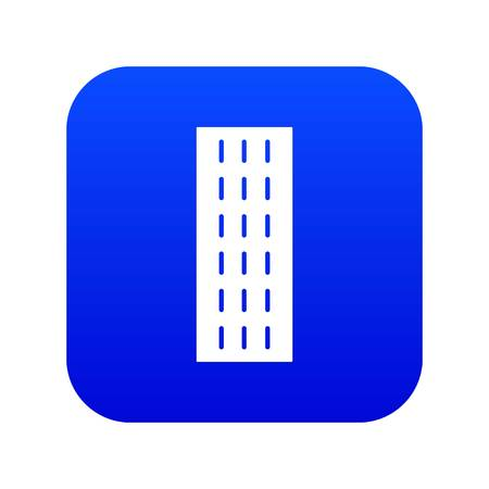 Highway icon blue vector