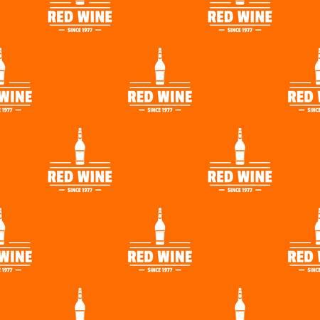 wine pattern vector orange for any web design best