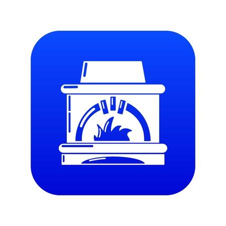 Blast furnace icon blue vector Stock Illustratie