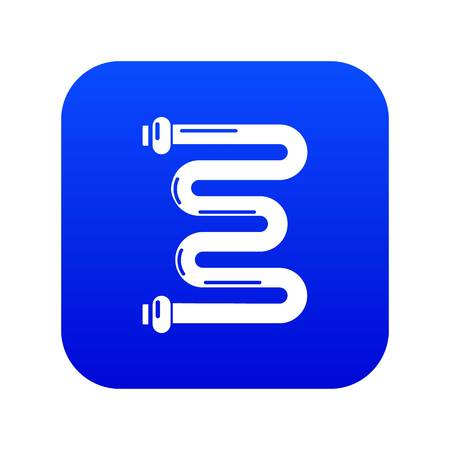 Coil battery icon blue vector Illustration